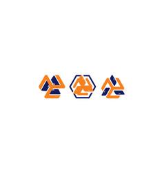 door recycle logo icon vector image