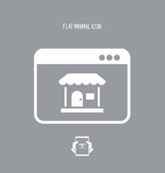 e-commerce application window - flat minimal icon vector image