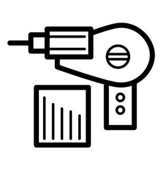Electric drill simple icon black and white vector