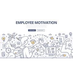 Employee Motivation Doodle Concept vector