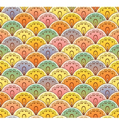 Fan multicolor seamless pattern vector