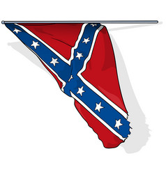 flag confederate states army in usa vector image
