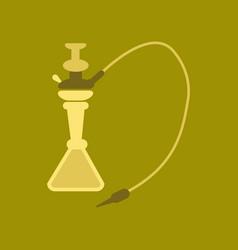 flat icon on stylish background eastern hookah vector image