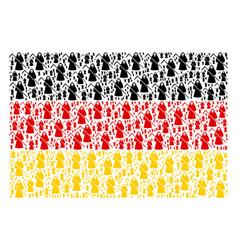 German flag mosaic of death scytheman items vector