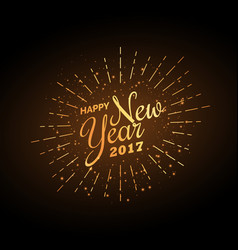 happy new year 2017 celebration background in vector image