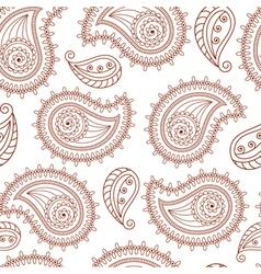 Henna tattoo mehndi style seamless background vector
