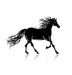 Horse silhouette for your design vector