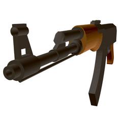 Kalashnikov assault rifle polygonal detailed vector