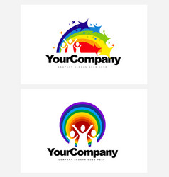 Kindergarten Logo Design vector