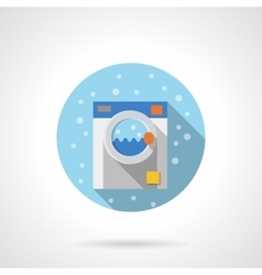 Laundry equipment round flat color icon vector image