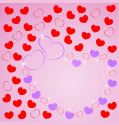 love greeting card with of hearts for wishes vector image