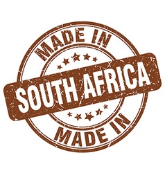 made in South Africa vector image