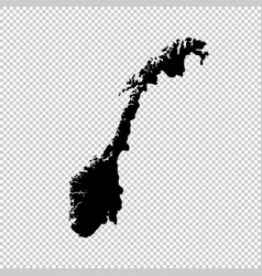 map norway isolated black on vector image