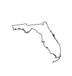 Map of the us state florida vector