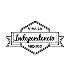 mexican independence day greeting emblem vector image