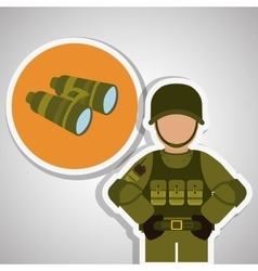 Military binoculars design vector image