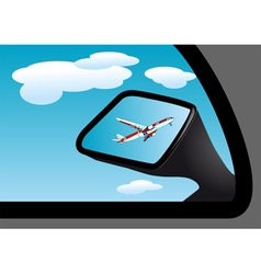 Mirror and airplane vector