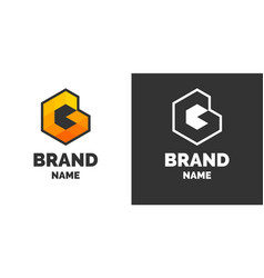 modern logo and sign the letter g vector image