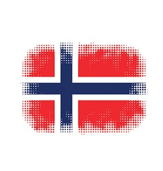 Norway flag symbol halftone vector