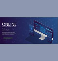 Online statistics and data analyticsdigital money vector