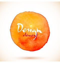 Orange watercolor circle design element vector