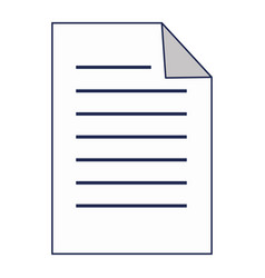 Paper document isolated icon vector