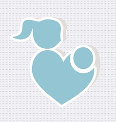 Parent with baby icon vector
