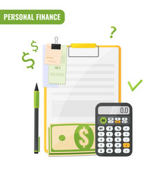 personal finance budget planning concept vector image