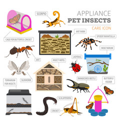 pet appliance icon set flat style isolated on vector image