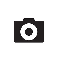 Photo camera - black icon on white background vector