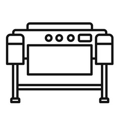 Printer plotter icon outline style vector