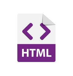 purple icon html file format extensions vector image