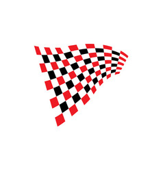 Race flag icon design vector