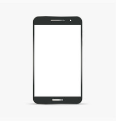 realistic black and grey smart phone vector image