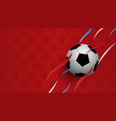realistic football on red background football vector image