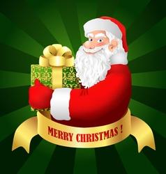 Santa Claus with gift box vector