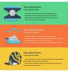 Sea leisure colored vector