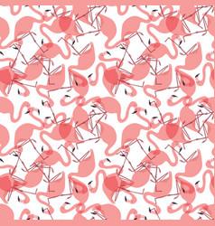Seamless flamingo pattern vector