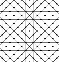 Seamless monochrome wired grid pattern vector image