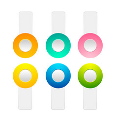 Set of toggle buttons collection vector