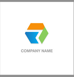 shape colored company logo vector image