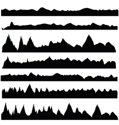 Silhouettes mountain vector