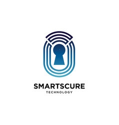 smart secure logo design symbol template vector image
