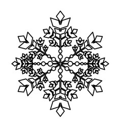 Snowflake winter isolated icon vector