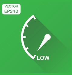 Speedometer tachometer fuel low level icon vector
