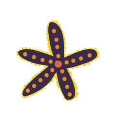 starfish seaweed marine or ocean underwater vector image