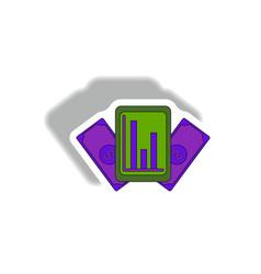Statistical bar graph on gadget vector