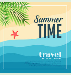 Summer beach paradise travel background vector
