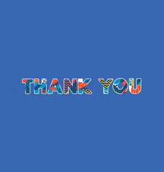 thank you concept word art vector image