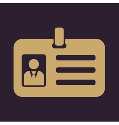 The accreditation icon Admission and badge vector image